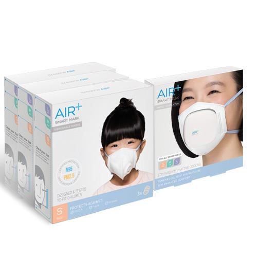 AIR+   氣益佳智慧型口罩3+1入組風扇