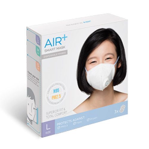 (複製)AIR+ | 氣益佳智慧型口罩1盒(3入)+1入組風扇