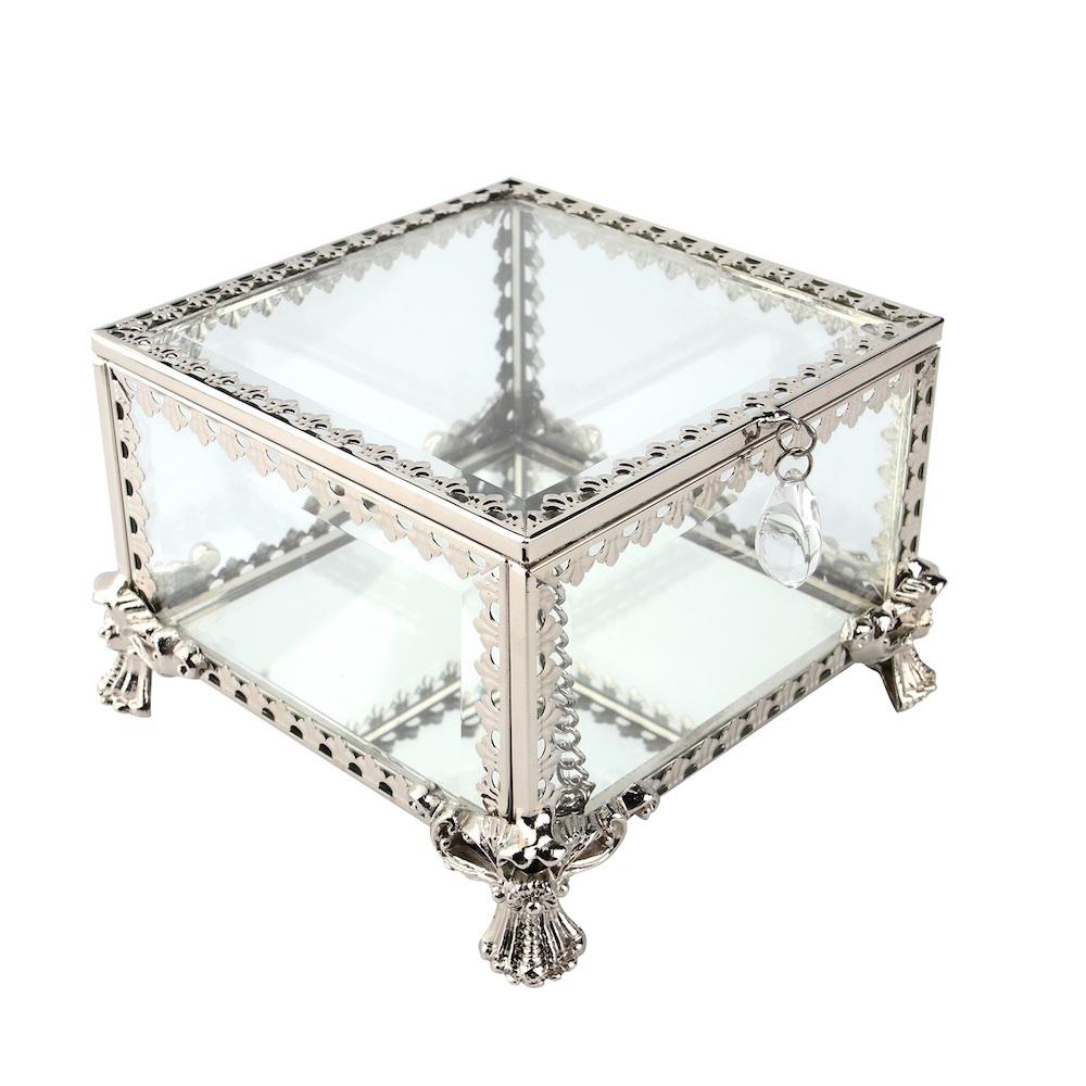 目喜生活   華麗鏡面玻璃金屬盒