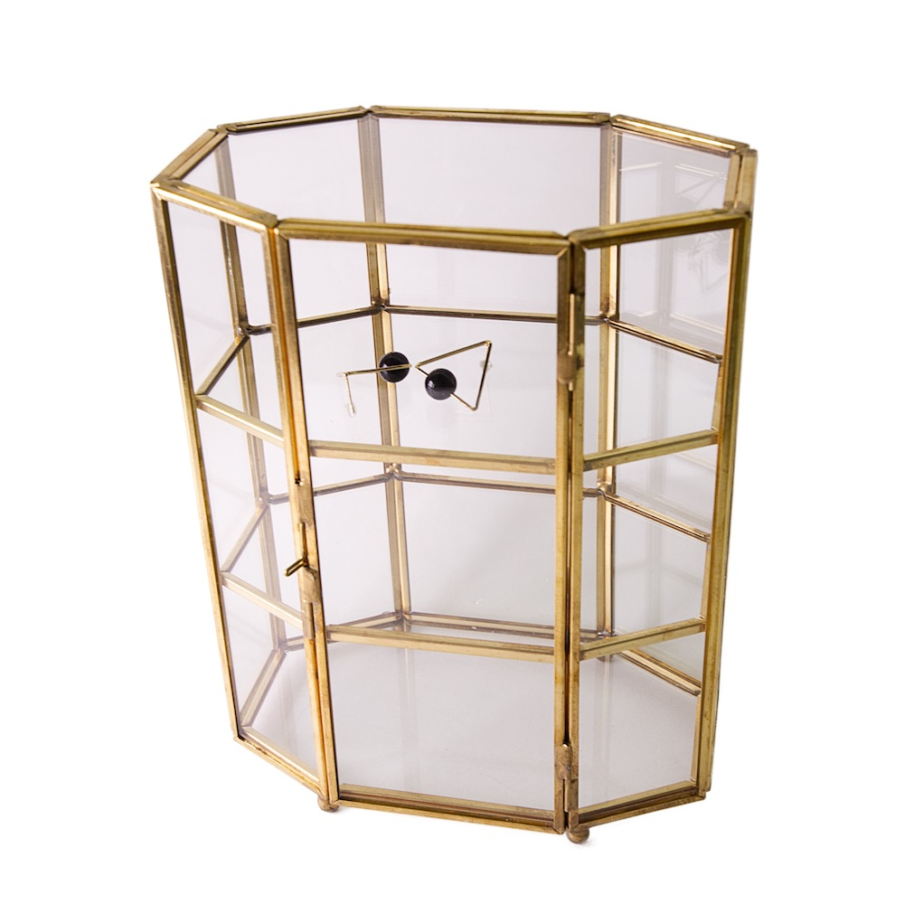 目喜生活   復古銅色金屬三層收納盒