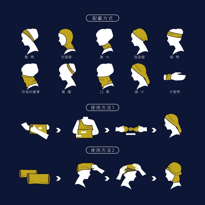 (複製)拾藝術|奇美 東洋武士運動頭巾