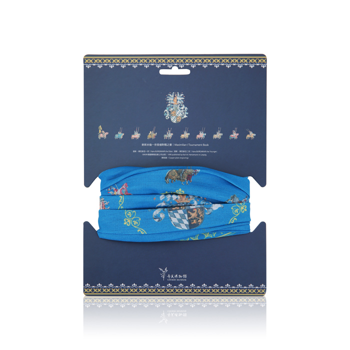 拾藝術|奇美 運動頭巾 西洋兵器(藍)