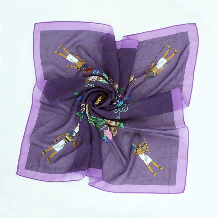拾藝術|大英埃及展 小方巾 貓神(紫)