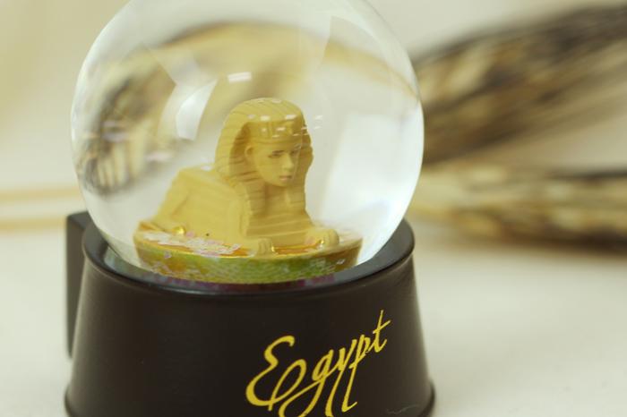 拾藝術|大英埃及展 水晶球磁鐵  人面獅身像