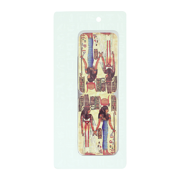 拾藝術|雙面鏡 女神像(藍裙)