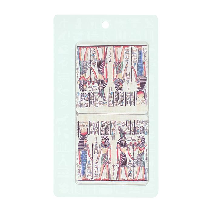 拾藝術|大英埃及展 雙面方鏡 四神像