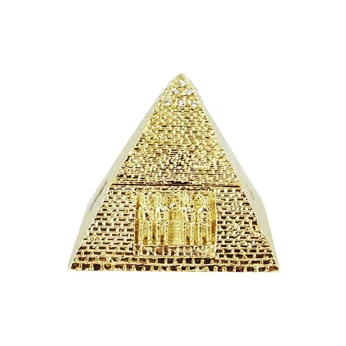 拾藝術|大英埃及展 珠寶盒 金字塔(金)