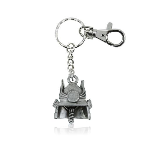 拾藝術|奇美 鑰匙圈 東洋頭盔(銀)