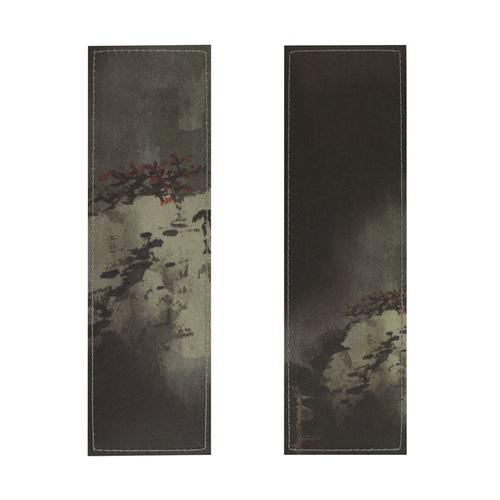 拾藝術|張大千 絹布書籤 秋山飛瀑