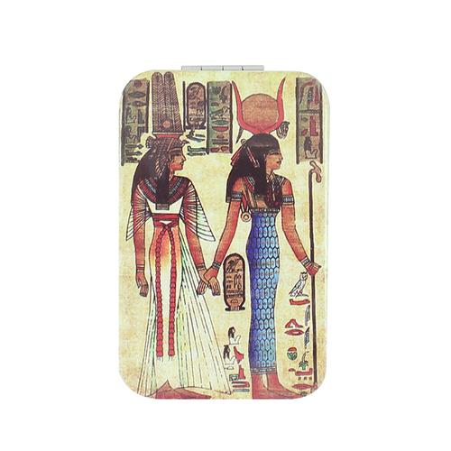 拾藝術|大英埃及展 雙面長鏡 女神像(藍裙)