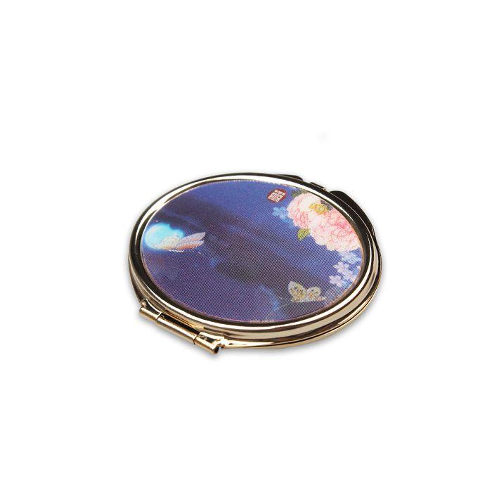 (複製)故宮精品|滑蓋方鏡紅地刺繡