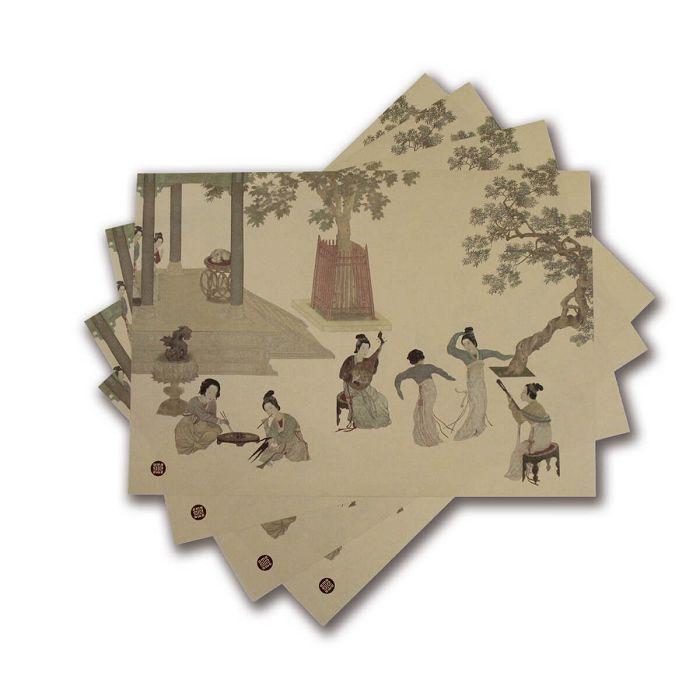 (複製)故宮精品|荷花紙餐墊(10入)