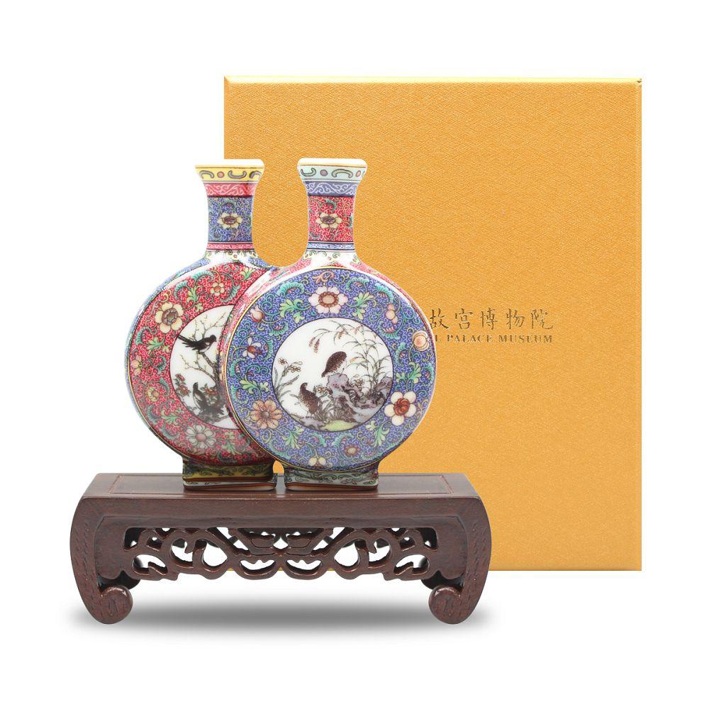 故宮精品|迷你瓷器 - 琺瑯雙連扁壺