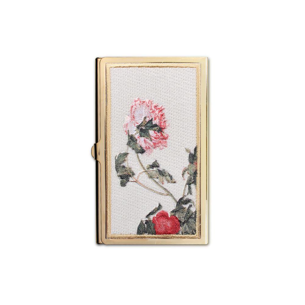 故宮精品|經典刺繡名片盒牡丹圖