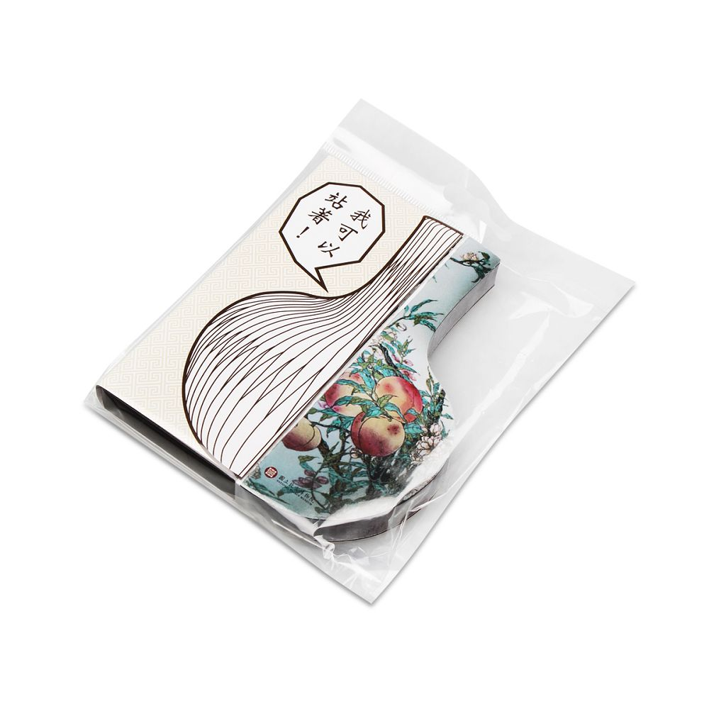故宮精品|蟠桃天球瓶立體便條紙