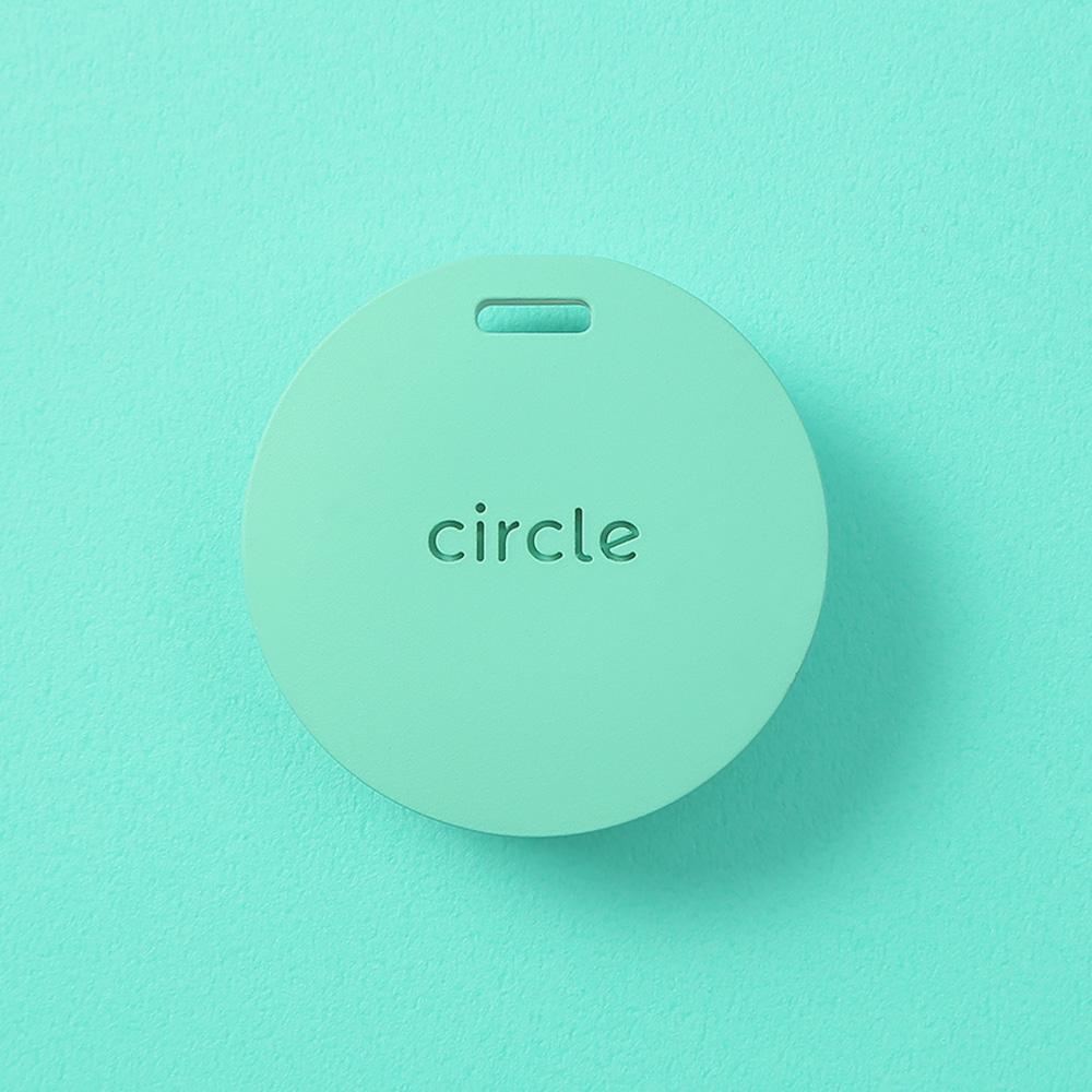 Circle 圈圈 智慧多功個人警報器 手工皮革吊繩組 (碧海綠)