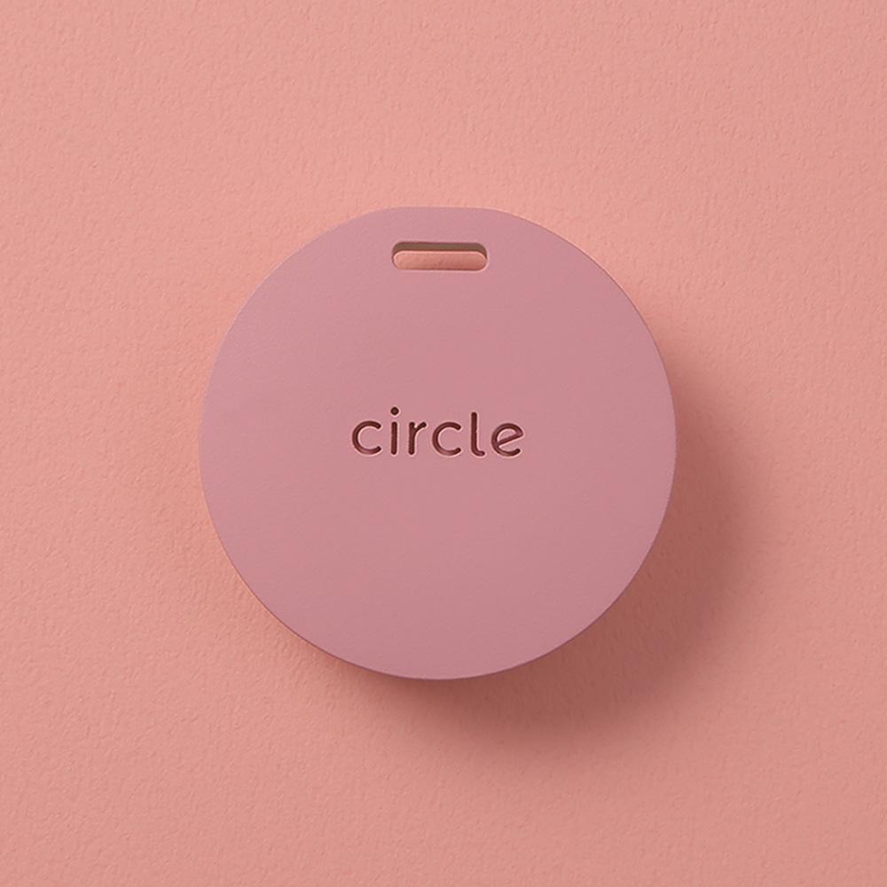 Circle 圈圈|智慧多功個人警報器 手工皮革吊繩組 (玫瑰粉)