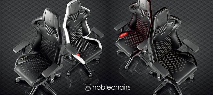 noblechairs 皇家EPIC系列電競賽車椅-PU經典款-黑/紅