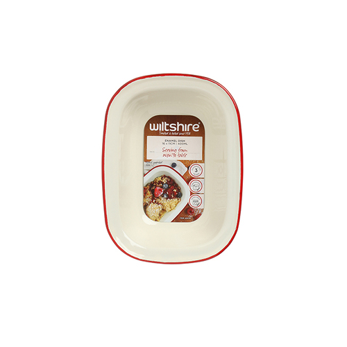 Wiltshire |澳洲ENAMEL琺瑯手工方形烤盤-400ml-紅