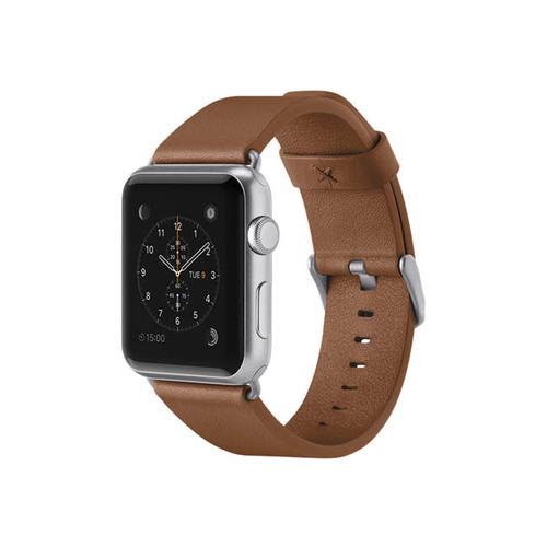 Belkin|Apple Watch經典真皮錶帶 42 公釐-棕色