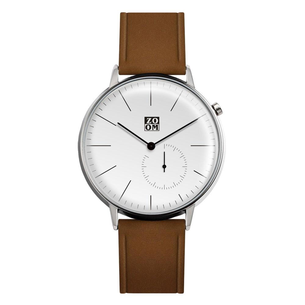 ZOOM │ Pure 生活觀察家極簡設計腕錶-白色