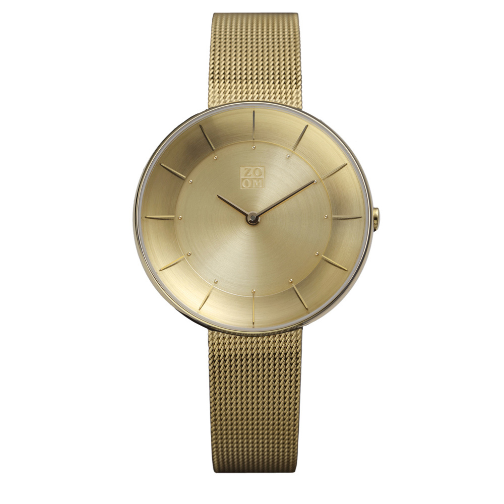 ZOOM|FLOATING 光感美學米蘭腕錶-金/35mm