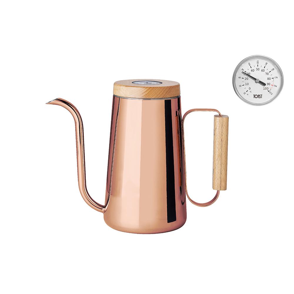 TOAST H.A.N.D 咖啡手沖壺附溫度計 - 800ml - 紅銅色