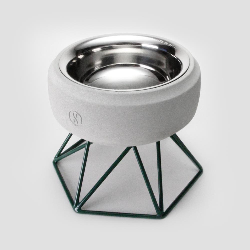 SPUTNIK︱COZY寵物碗 - 白水泥 (M1) / 綠架