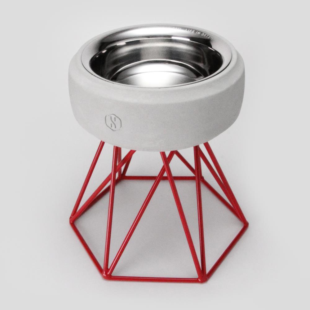 SPUTNIK︱COZY寵物碗 - 白水泥 (M2) / 紅架