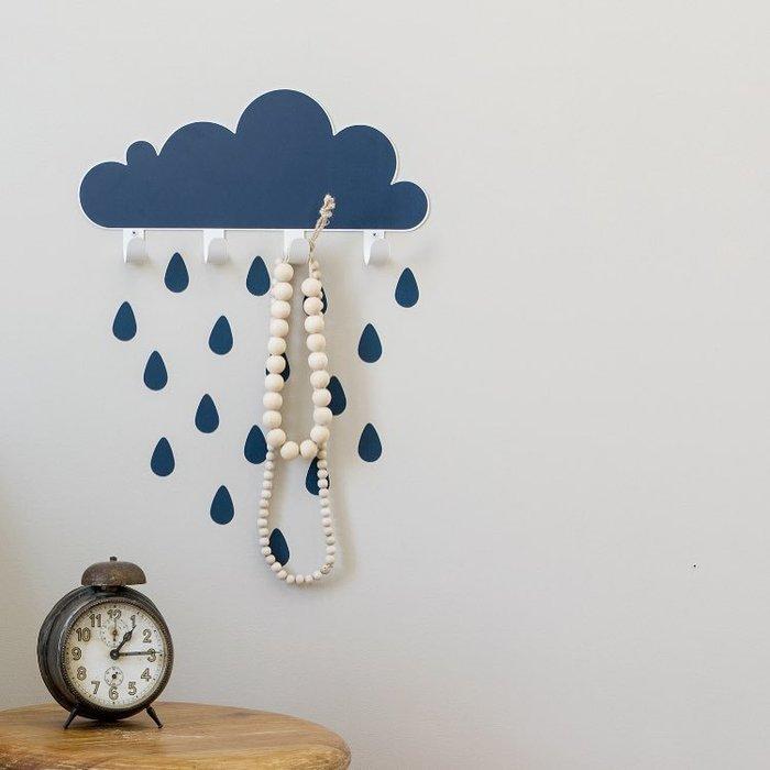 (複製)西班牙 Tresxics|大雲朵小雨滴掛勾(藍)