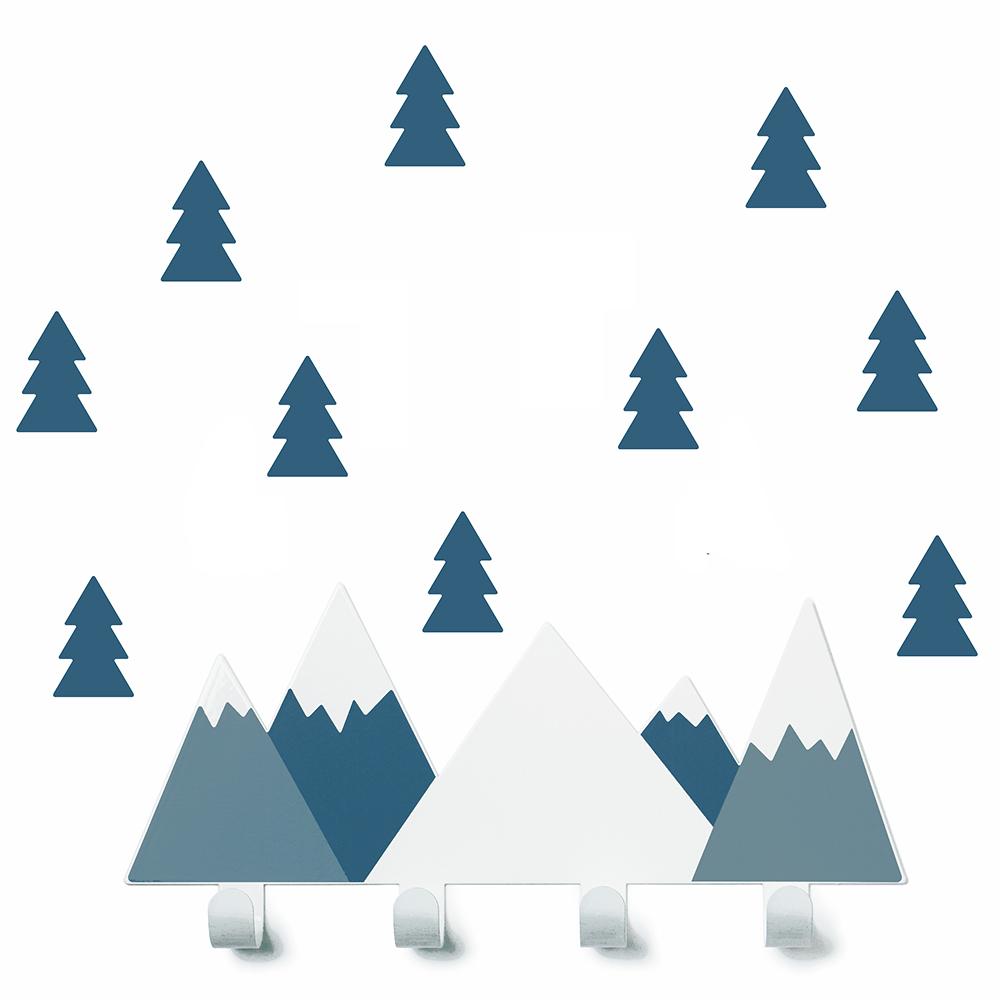 西班牙 Tresxics|綿延山丘小樹掛勾(深藍)