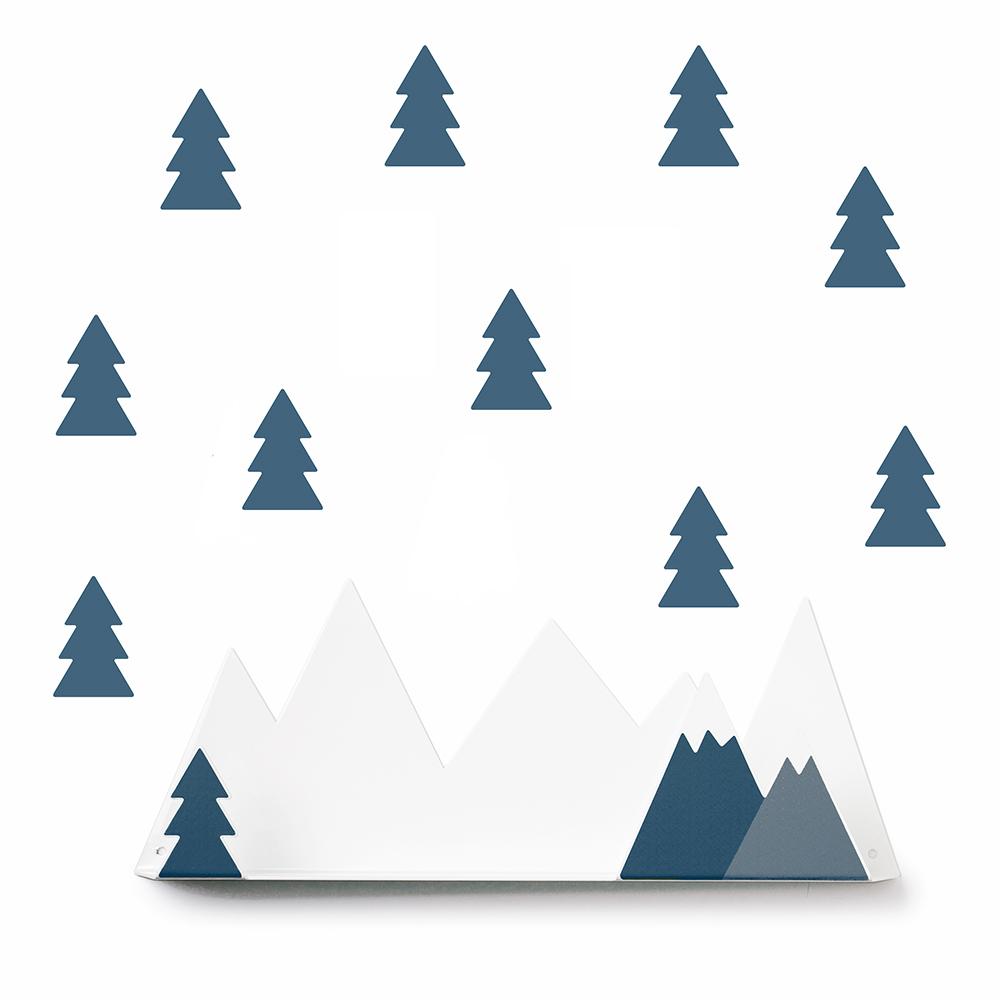 西班牙 Tresxics 綿延小山造型裝飾架(深藍)