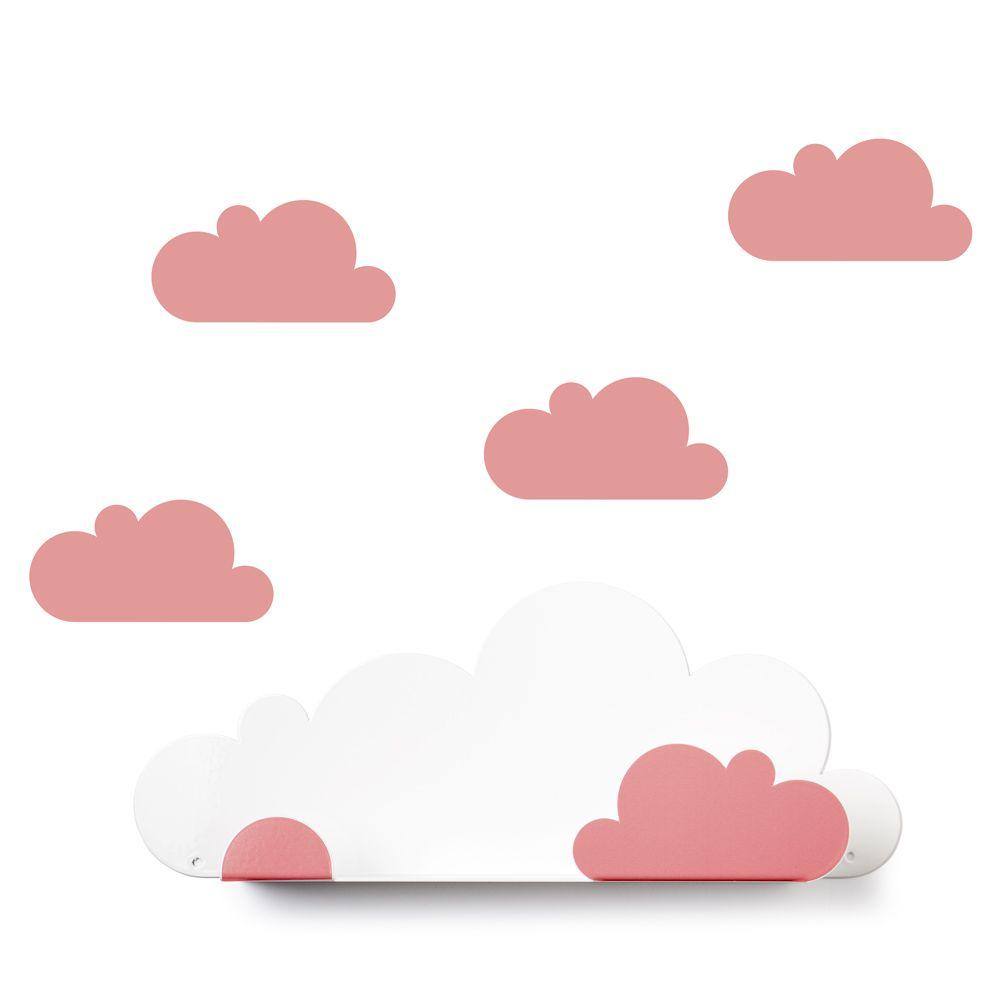 西班牙 Tresxics|綿綿雲朵造型裝飾架(紅)