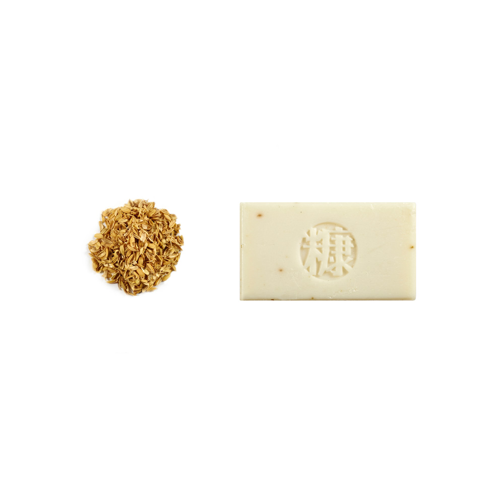 手工糠皂|NUDE系列 米糠Bran 玉米澱粉盒包裝  (米色)