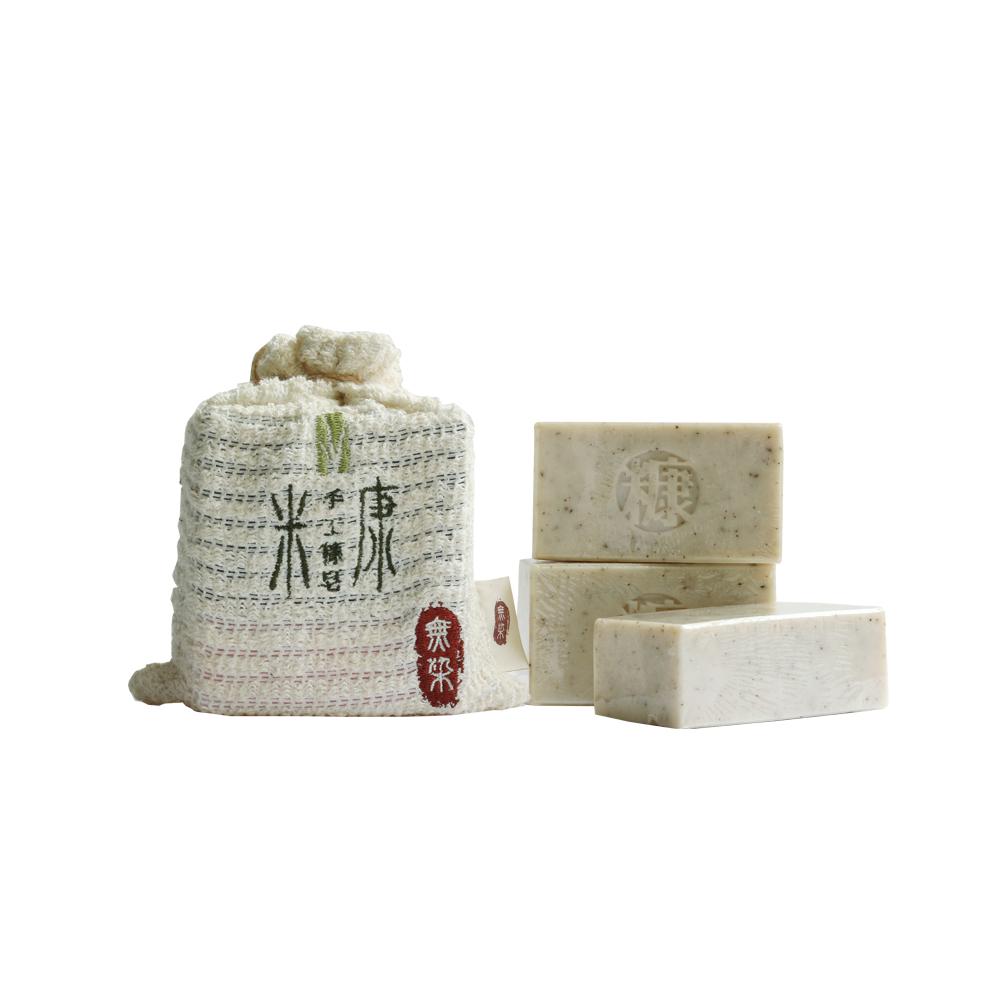 手工糠皂|皂袋三入組