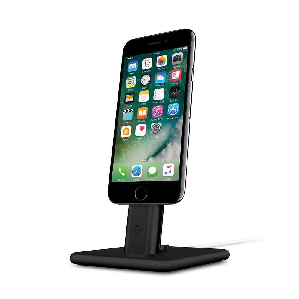 Twelve South| HiRise Deluxe 2 iPhone 充電立架 -黑色 (12-1627)