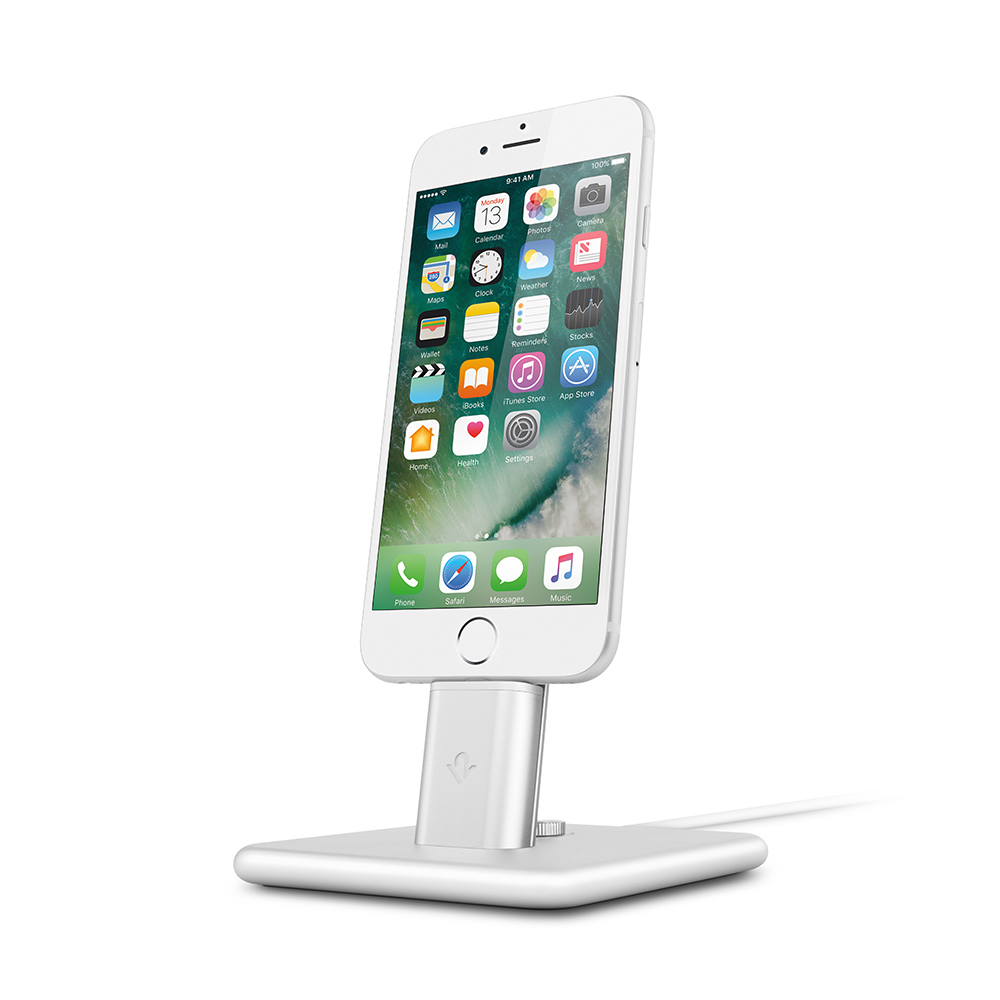 Twelve South| HiRise Deluxe 2 iPhone 充電立架 (銀色)