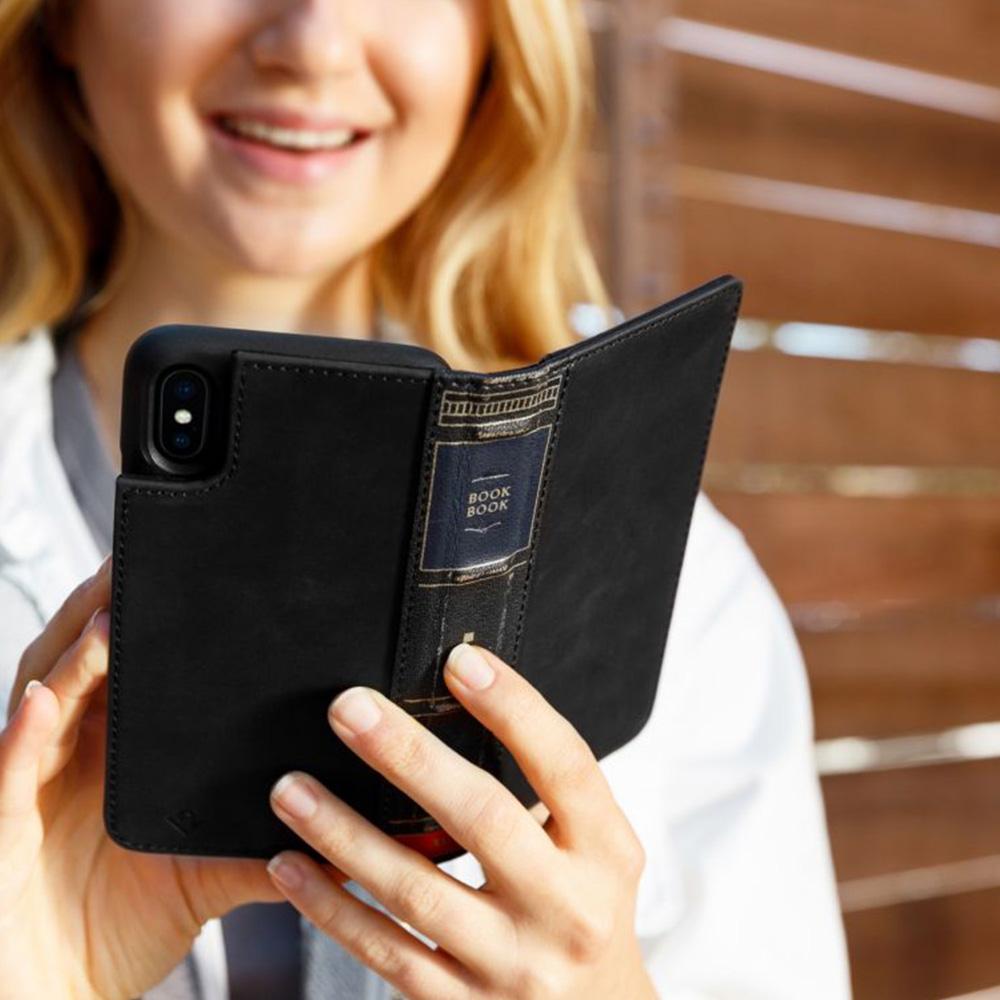 Twelve South|BookBook iPhone X 復古書仿舊皮革保護套 (黑色)