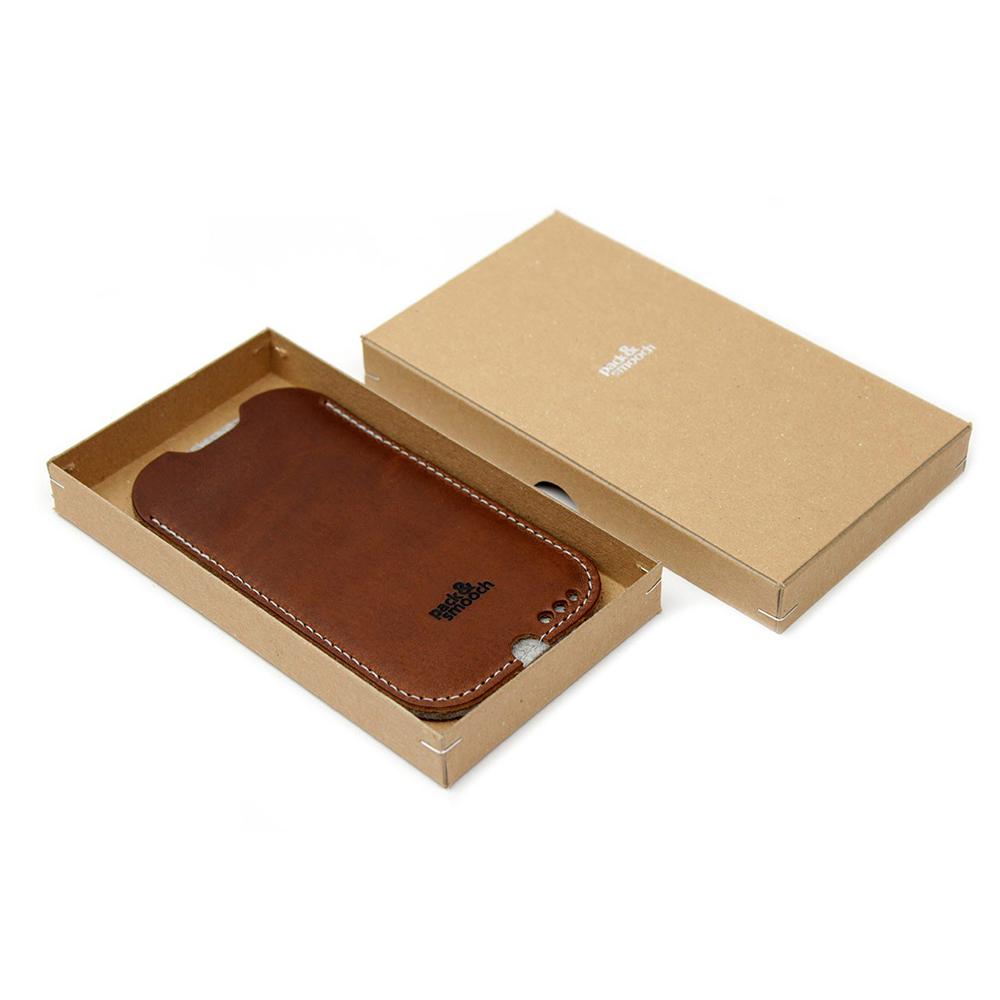 Pack & Smooch Kingston iPhone 6/6s/7 Plus 手工製天然羊毛氈皮革保護套 (石灰/淺棕)