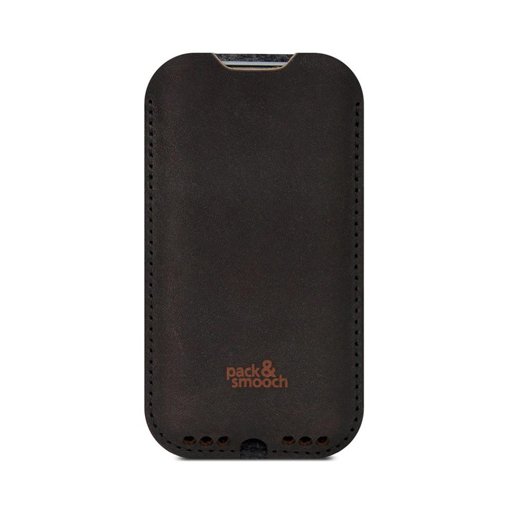 Pack & Smooch|Kingston iPhone 6/6s/7 Plus 手工製天然羊毛氈皮革保護套 (碳黑/深棕)