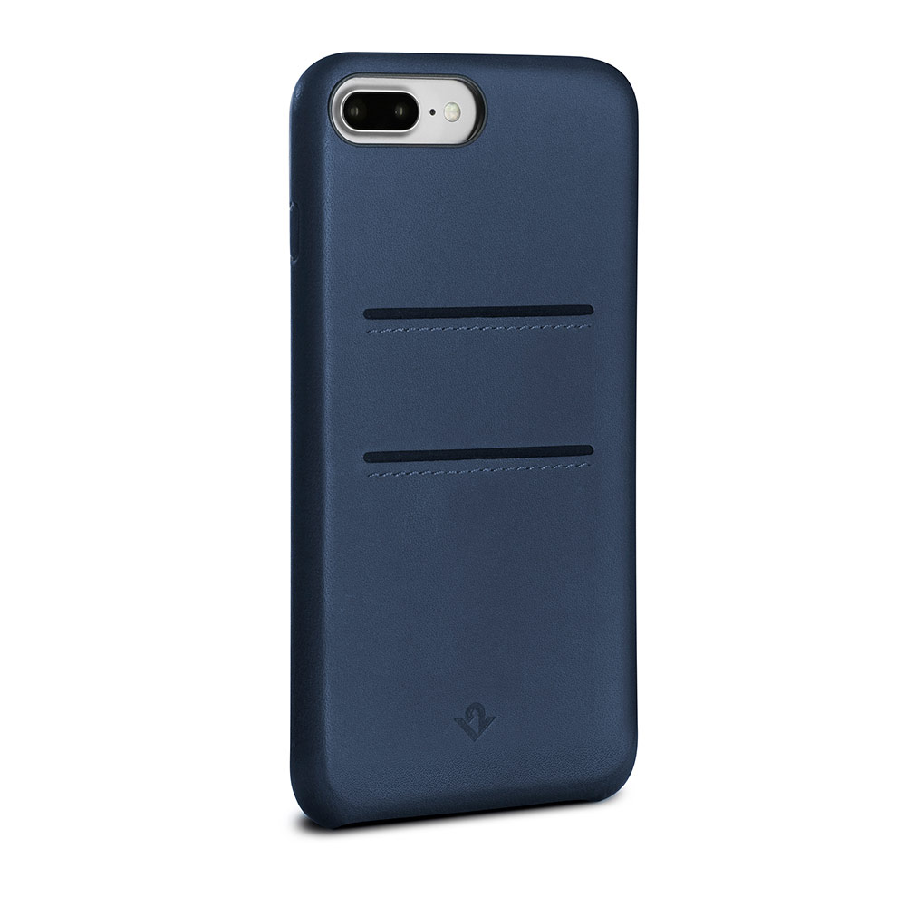 Twelve South Relaxed Leather iPhone 8 Plus 卡夾皮革保護背蓋(靛藍)
