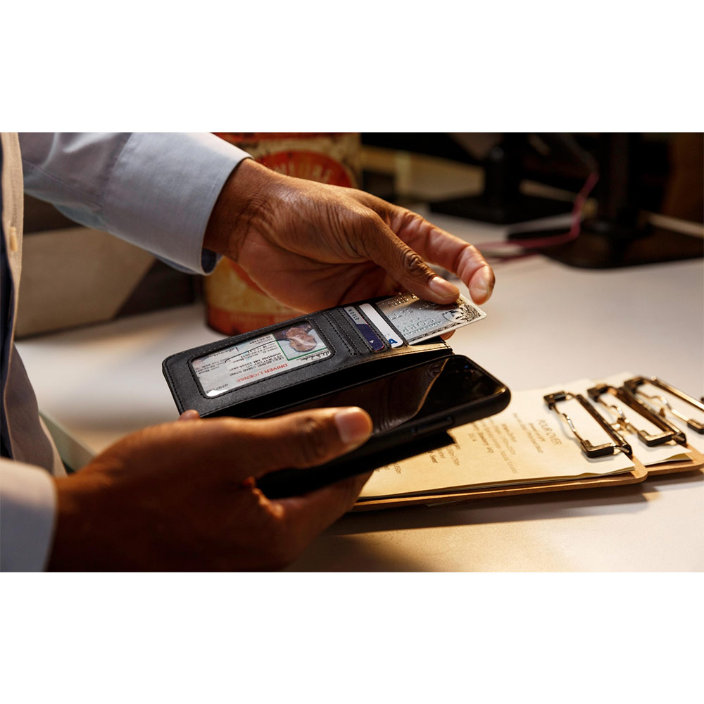 Twelve South Journal iPhone 8 Plus 皮革卡夾保護套 (黑色)