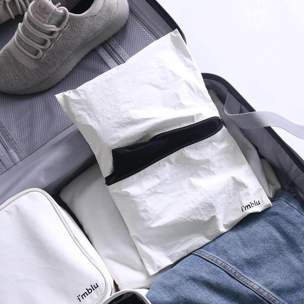 imblu 行李箱5件收納組 (白)