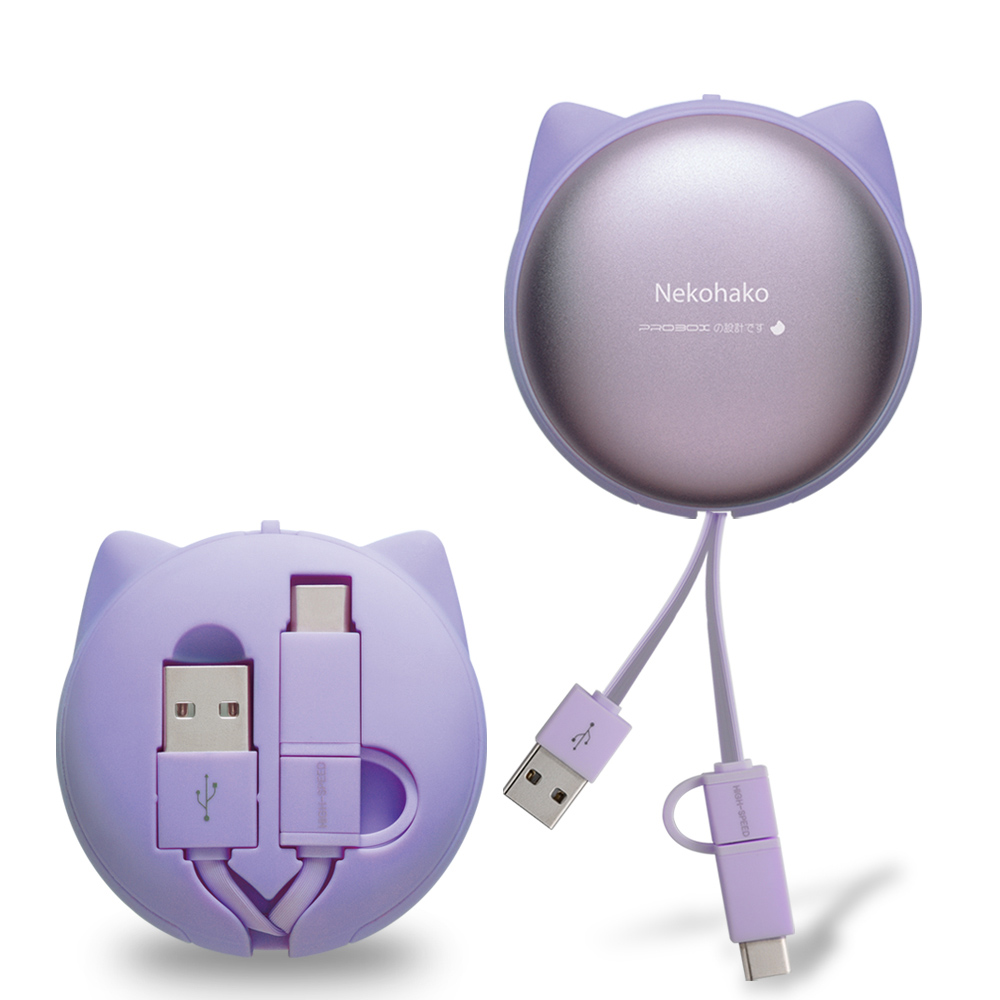 PROBOX 淺草貓 Type-C & Micro雙用充電傳輸線1米