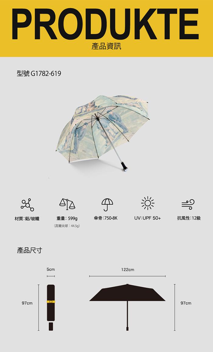 (複製)德國kobold|抗UV超大抗強風-高爾夫球傘-聖安德魯-名畫一