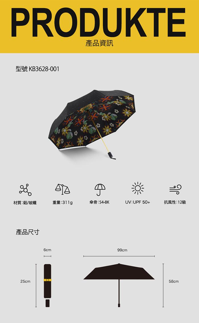 (複製)德國kobold 抗UV-Lotus超輕防潑水-紫膠遮陽傘-三折傘-田園