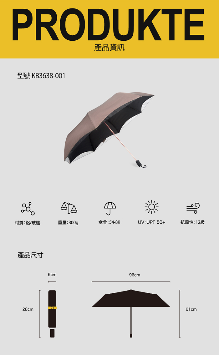 (複製)德國kobold|抗UV降溫10-12度-隱形傘骨-萬花鏡遮陽防曬降溫傘 -雙層三折傘-櫻花