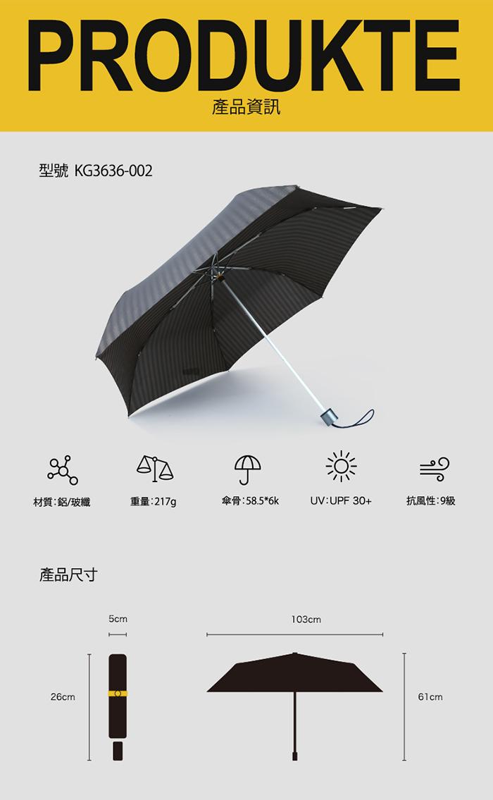 (複製)德國kobold|抗UV降溫10-12度-隱形傘骨-萬花鏡遮陽防曬降溫傘 -雙層三折傘-盛開藍