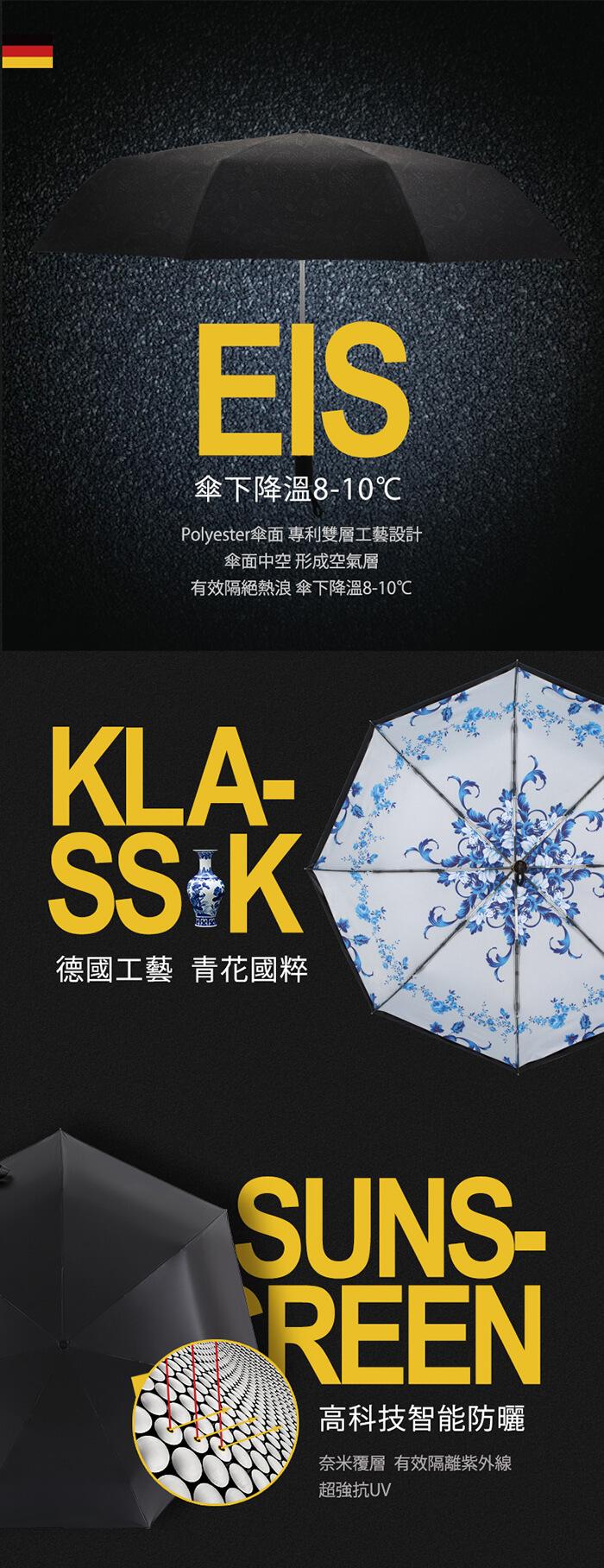 (複製)德國kobold|抗UV零透光智能防曬-油畫系列-遮陽防曬降溫傘 -雙層三折傘-巴黎