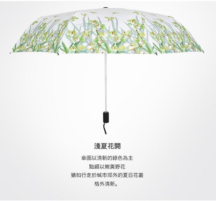 德國kobold|淺夏時光-超輕巧抗UV防曬三折傘-清雅綠